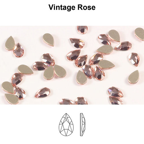 Timantit Pear Vintage Rose 8x5mm