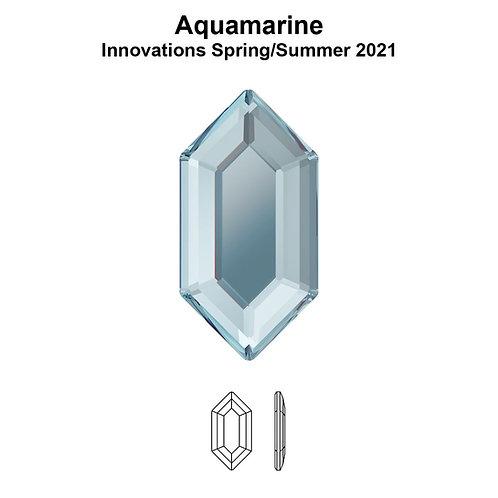 Timantit Elongated Hexagon Aquamarine 8,2x4,2mm