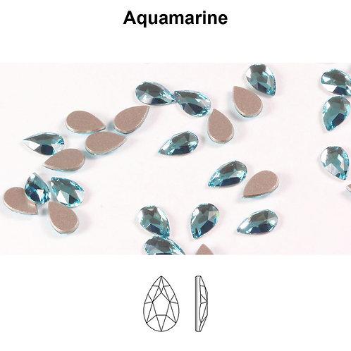 Timantit Pear Aquamarine 8x5mm