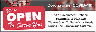 Eismueller & Sons Coronavirus We Are Ope