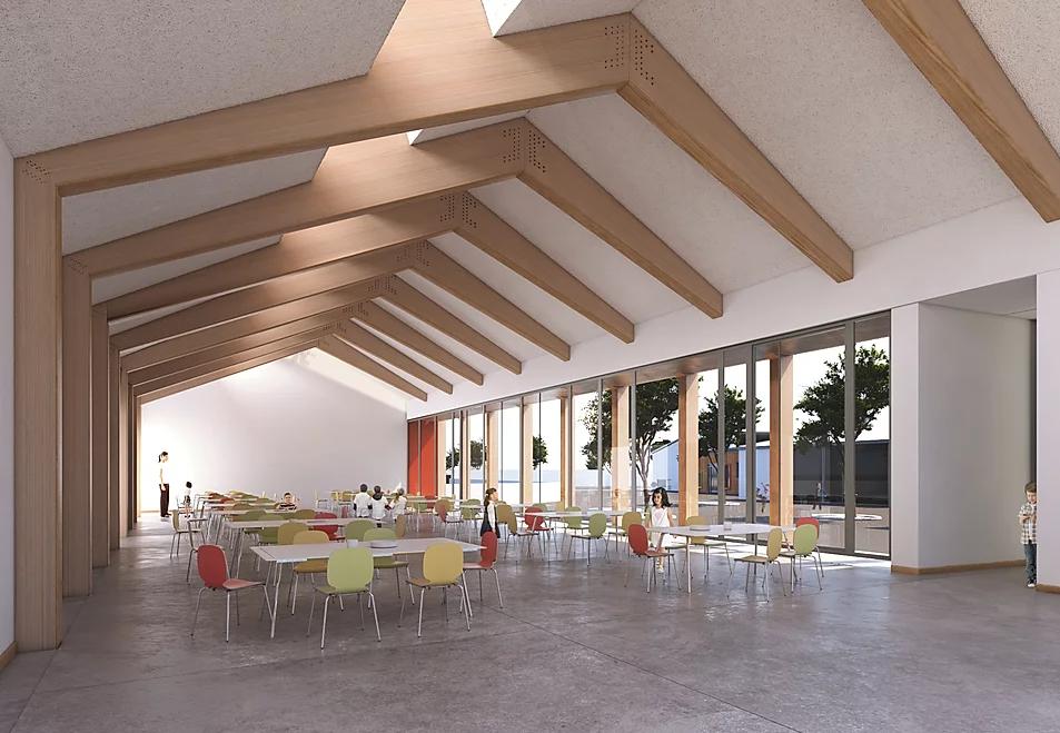 Modélisation 3D de l'intérieur de la cité scolaire Fontaine Saint Lubin à Boissy-sous-Saint-Yon