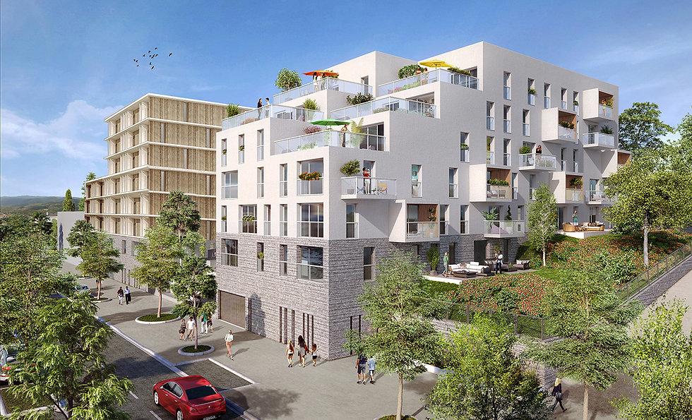 """Modélisation 3D des logements pour l'îlot """"Tête Gare"""" à Laval"""