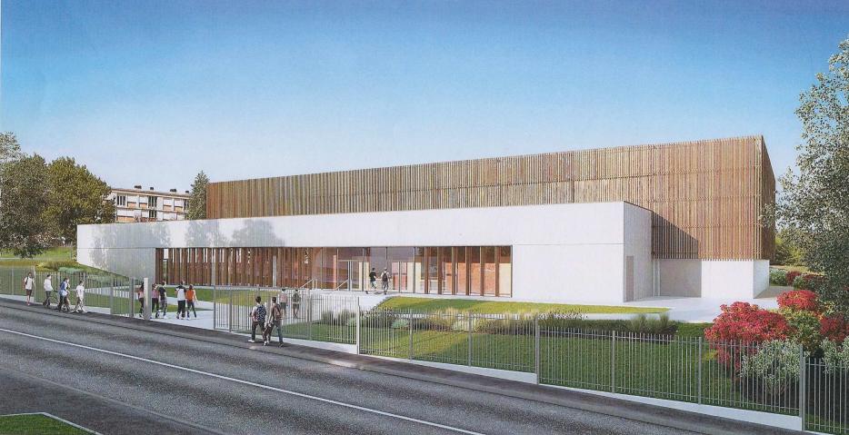 Modélisation 3D du gymnase du lycée Eugène Decomble à Chaumont
