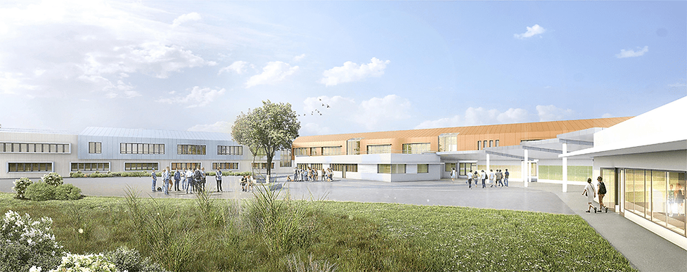 Modélisation 3D du nouveau collège à Coubert (77)