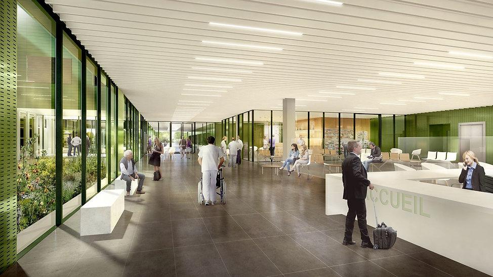 Modélisation 3D de l'intérieur du Centre Hospitalier à Fontainebleau