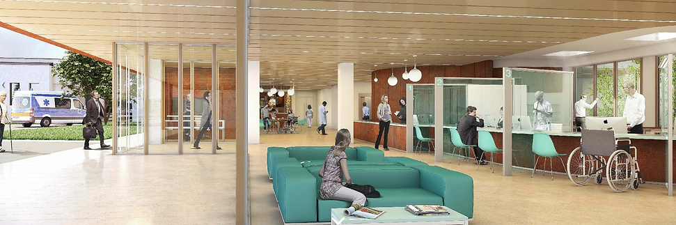 Modélisation 3D de l'intérieur du centre Hospitalier Sud Essonne à Dourdan-Etampes