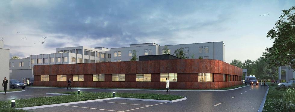 Modélisation 3D du centre Hospitalier Sud Essonne à Dourdan-Etampes