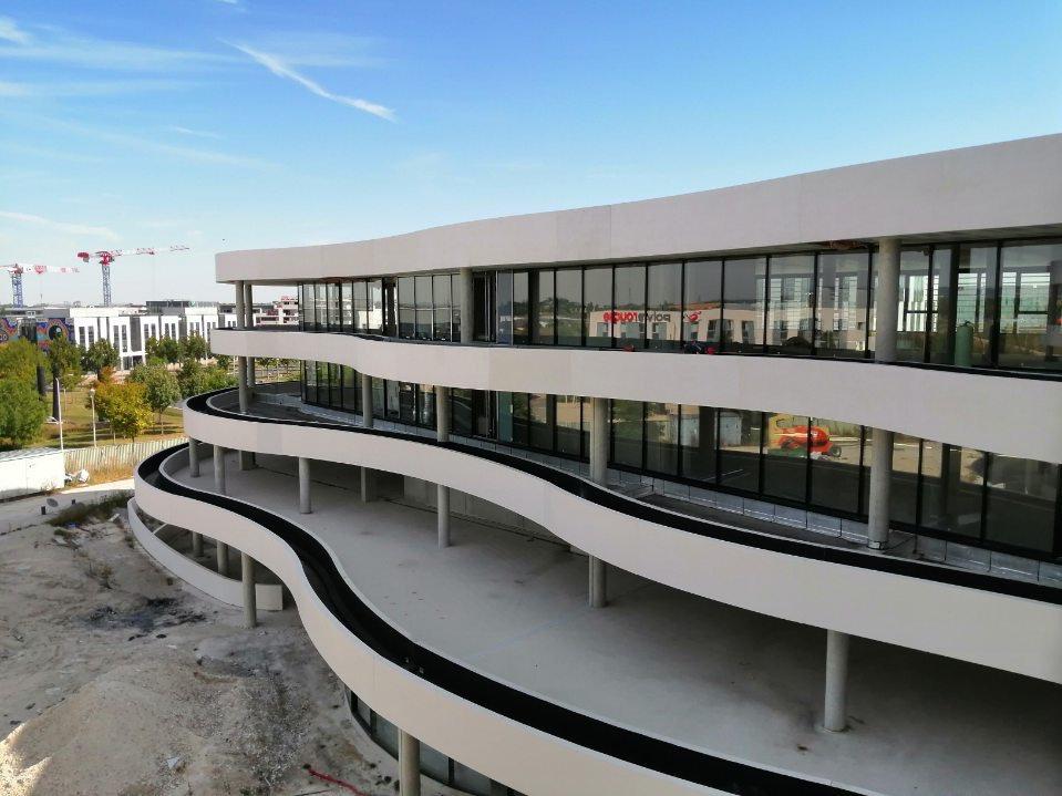 Photo des travaux de l'immeuble de bureaux REDEIM à Bezannes