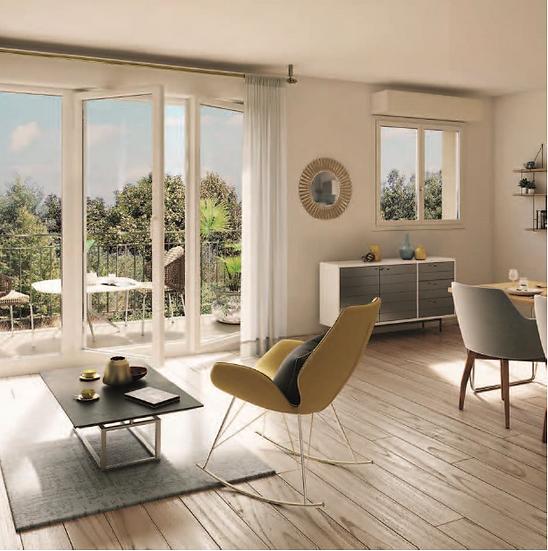 Modélisation 3D de l'intérieur d'un appartement de la résidence le 38