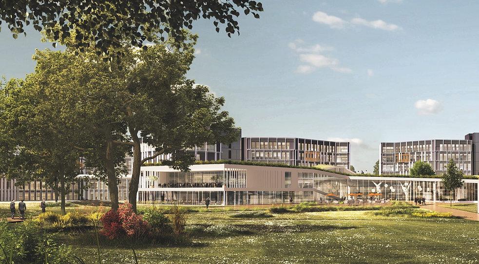 Modélisation 3D du Campus du Crédit Agricole Centre Est à Champagne-au-Mont-d'Or
