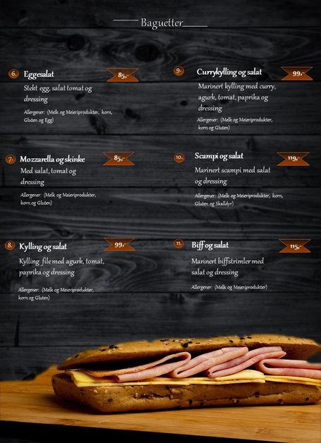 Tiramisu meny baguetter