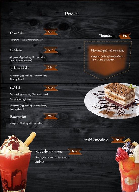 Tiramisu meny desset