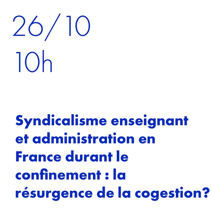 Sindicalismo docente e administração na França durante o confinamento: retorno da cogestão?