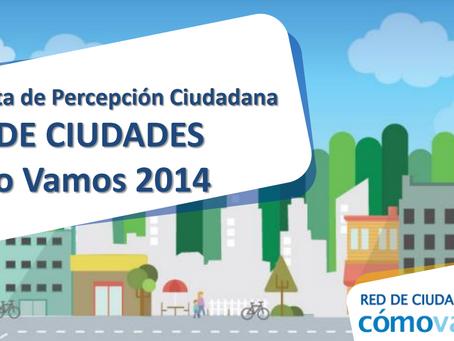 Comparativo percepción Red de Ciudades 2014