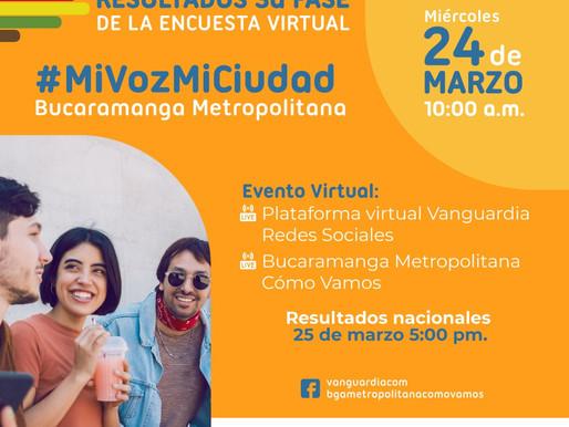 Lanzamiento de resultados de la fase 3 de la encuesta virtual de percepción 'mi voz, mi ciudad'