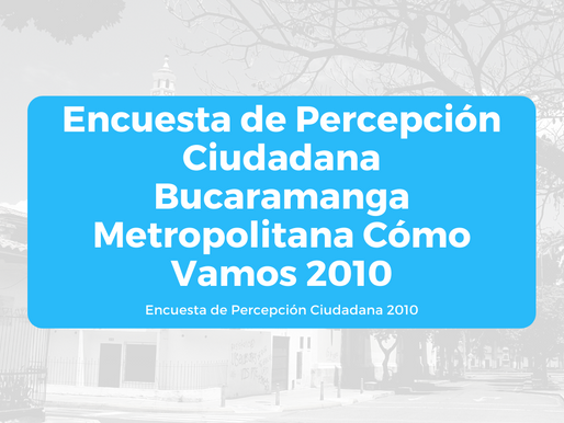 Encuesta de Percepción Ciudadana BMCV 2010