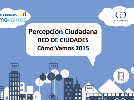 Comparativo Percepción Red de Ciudades 2015