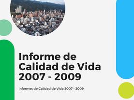 Análisis de la Evolución de la Calidad de Vida en Bucaramanga AMB 2007-2009