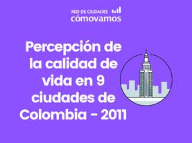 Comparativo percepción Red de Ciudades 2011