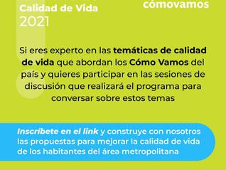Convocatoria: Red de expertos en temáticas de calidad de vida