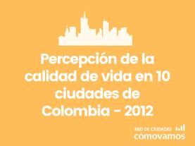 Comparativo percepción Red de Ciudades 2012