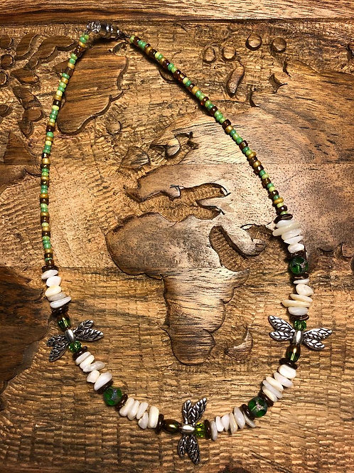 """Dragonfly Necklace 15.5"""" L"""