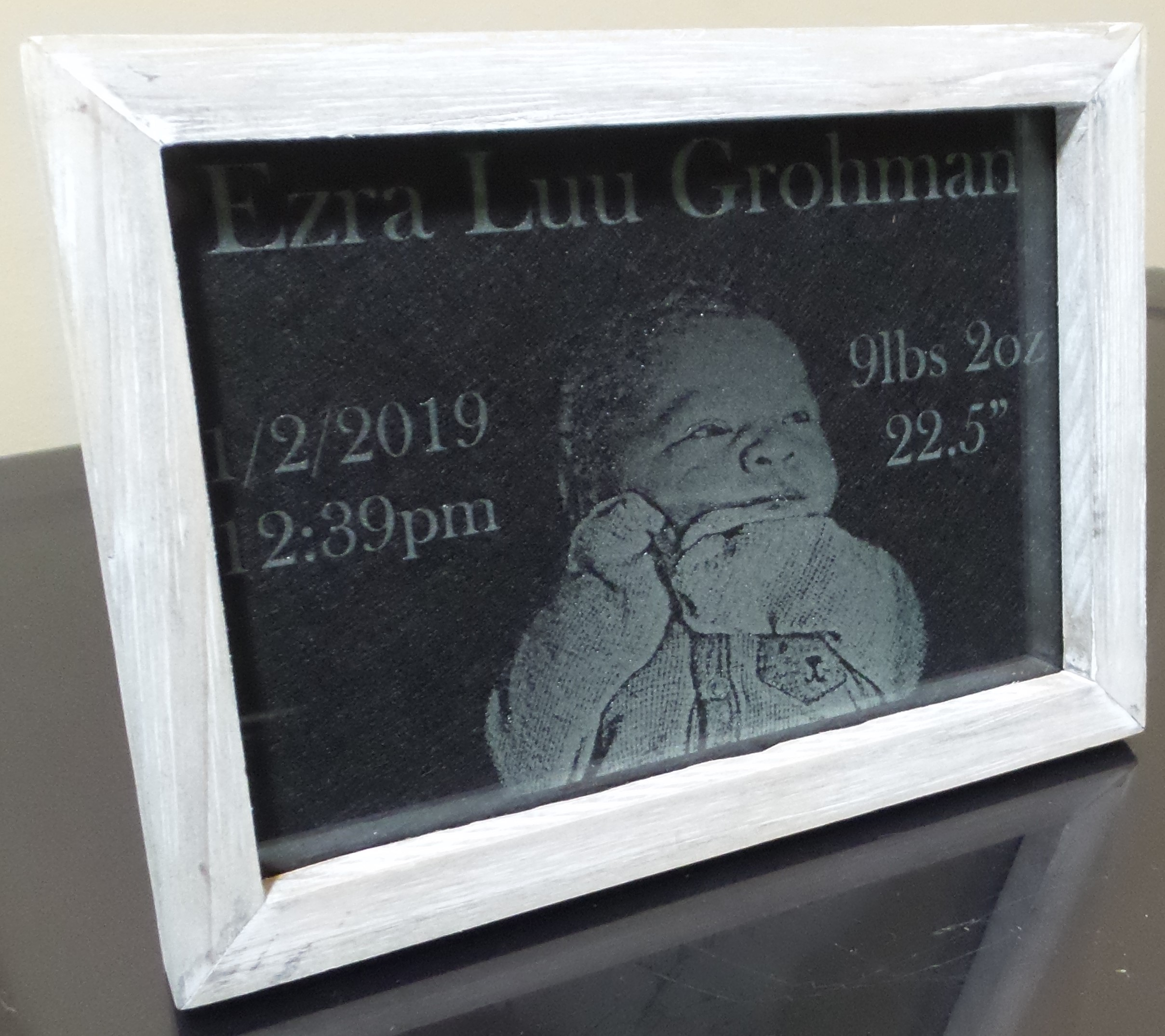 baby glass engraving