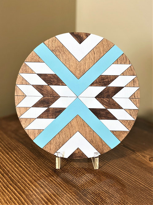 Wood Art for Desk, Side Table, Kitchen Counter