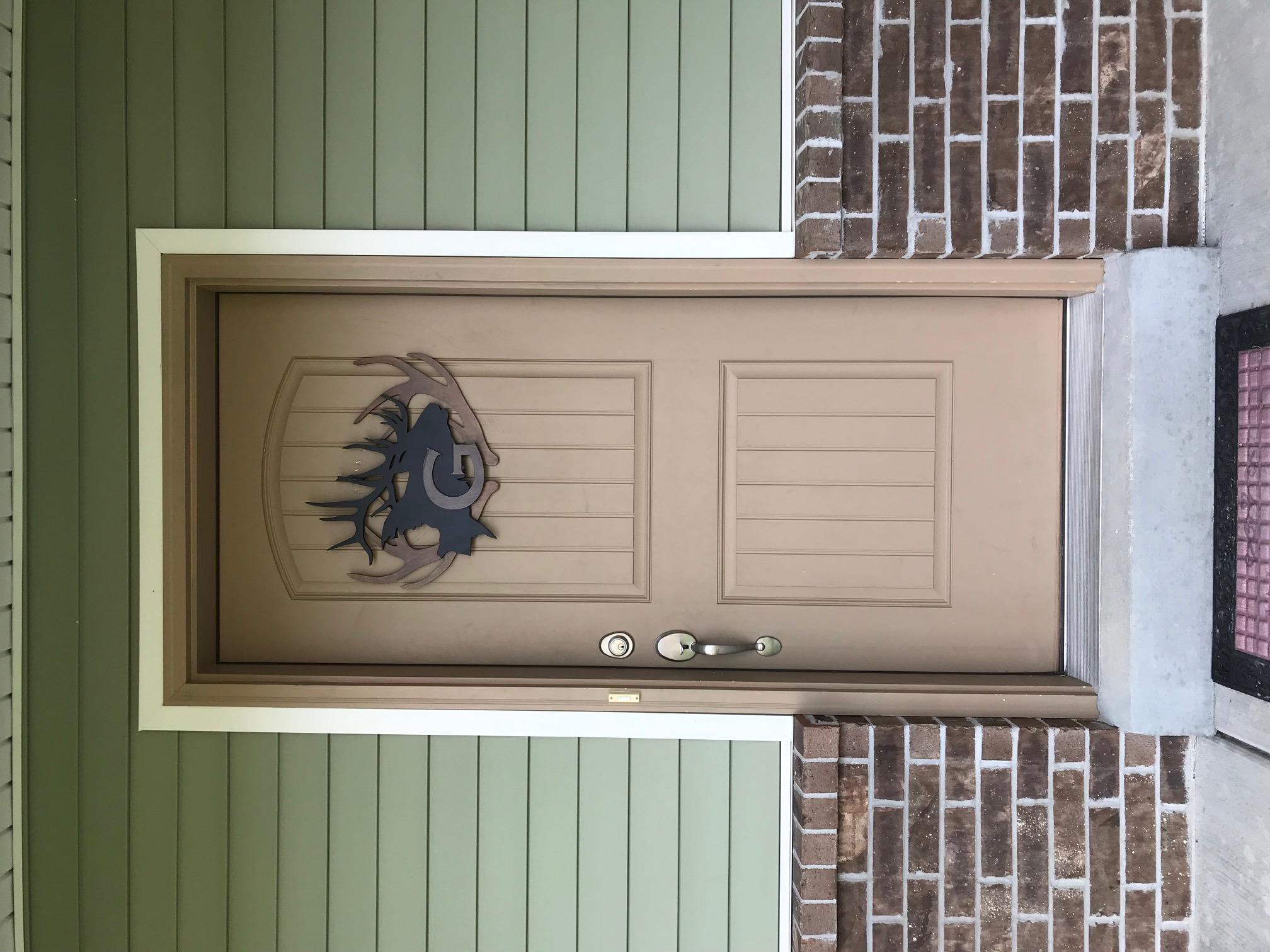 Elk Monogram Door Sign