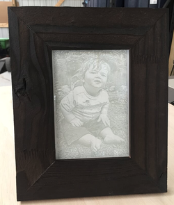 Etched Photo of Little Boy