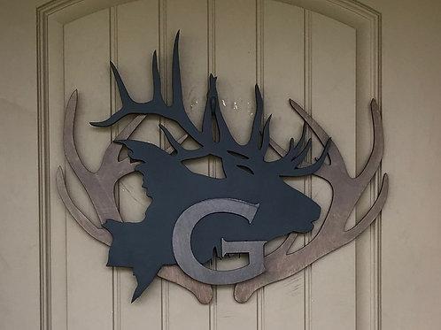 Elk Front Door Decor