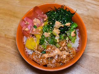 Homemade Whole 30 Salmon Poke Bowls