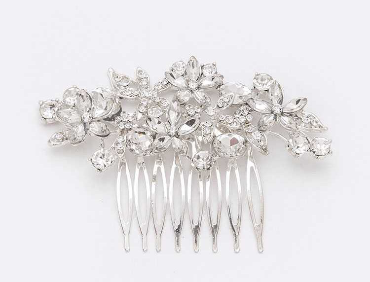 094-Crystal Flower Bridal Hair Comb