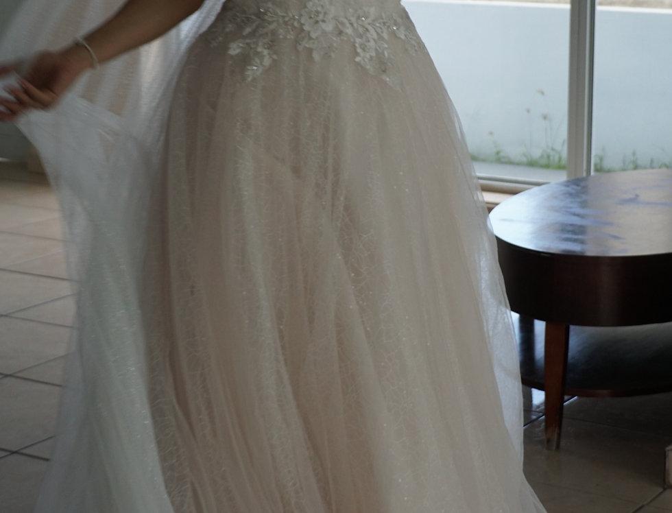 OM1733-Lamina Sleeveless Beaded Lace