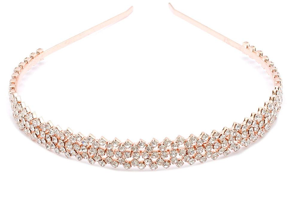 902-Rose Gold Plating Tiara Headband