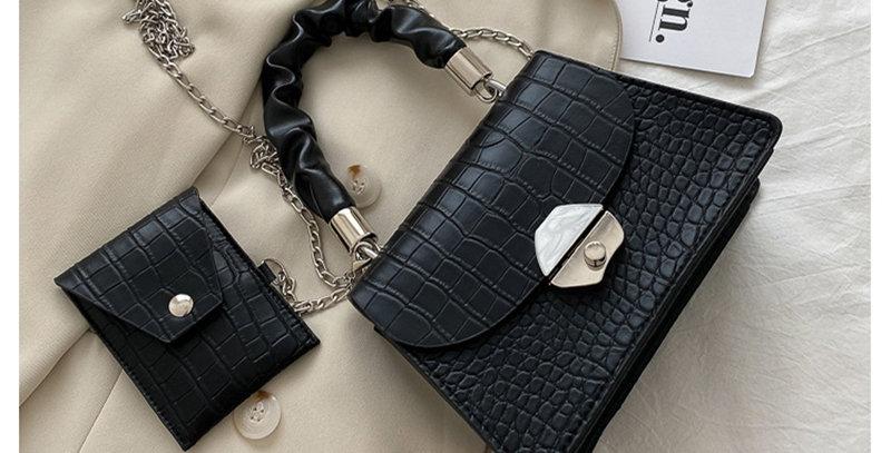 PV003-Silver Chain Hourglass Bag