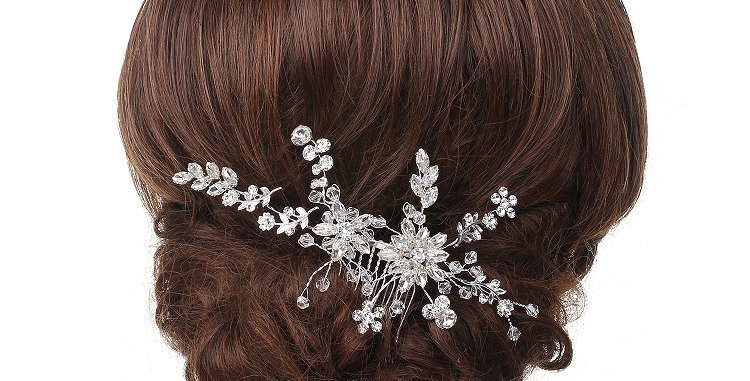 695-Silver Plating Hair Comb