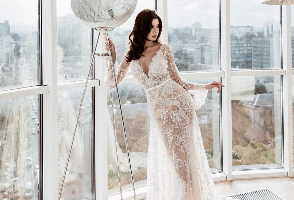 MB005- Luxury Aline Boho  Miriams Bride Collection