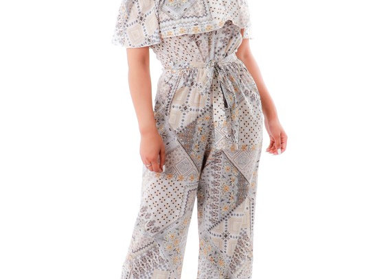 WD-73289- GRAY PRINTED JUMPSUIT