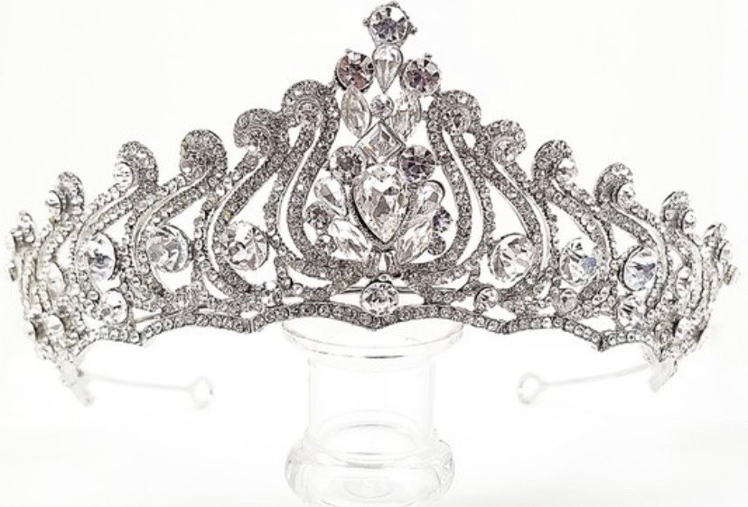 HQ3819-Rhinestone & Zirconia Crown