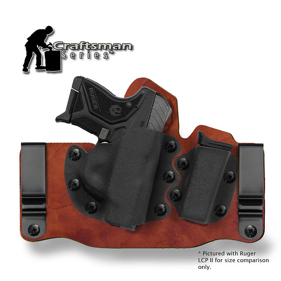 Ruger LCP II with Viridian Reactor RTL | GUN+ONE™ G2 Craftsman Tuck IWB Holster