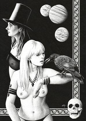 """Tirage """"Roba, Viki, the Crow"""""""