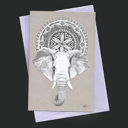 """Carte """"Jeune éléphant"""""""