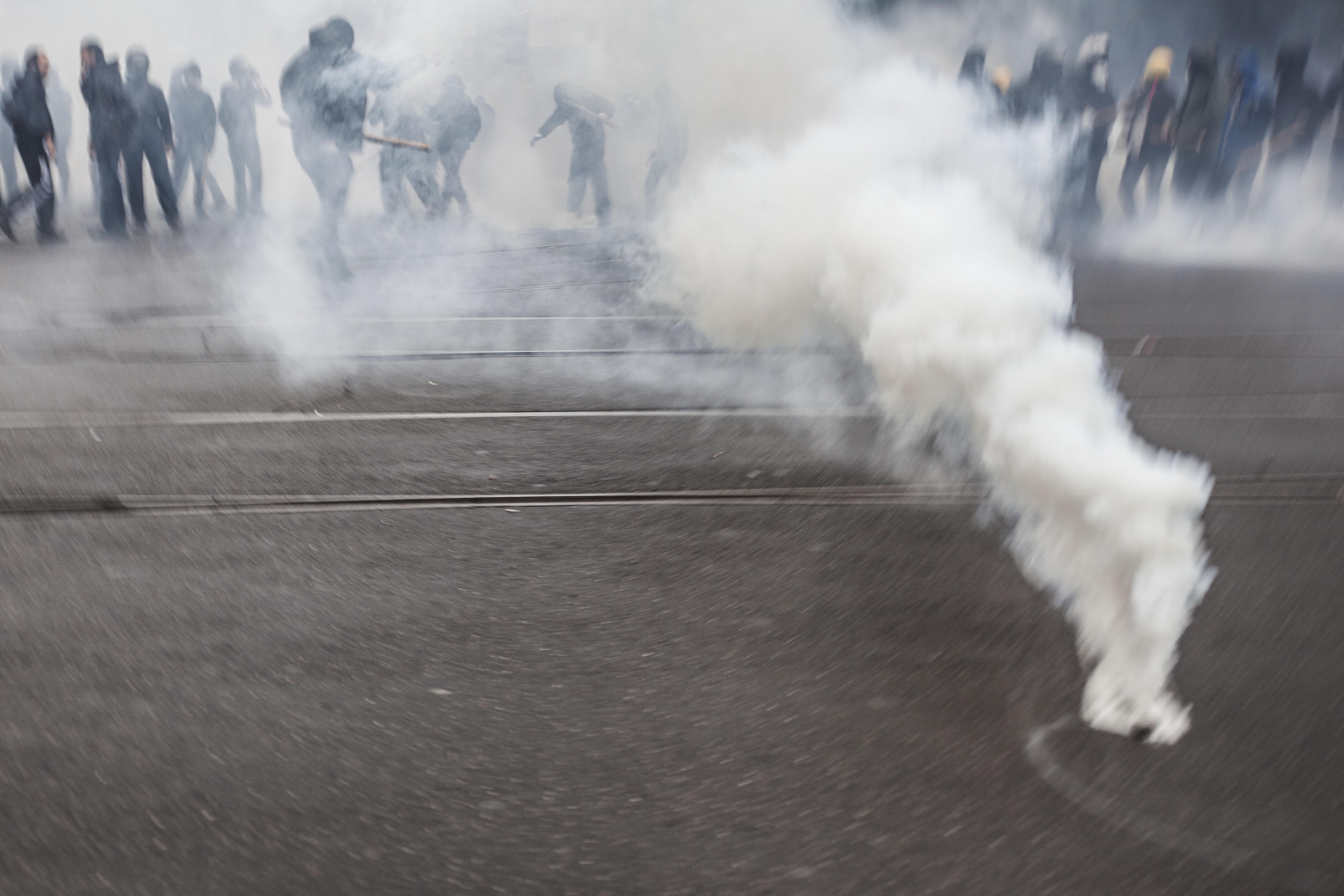Manifestación, Milano, Black bloc