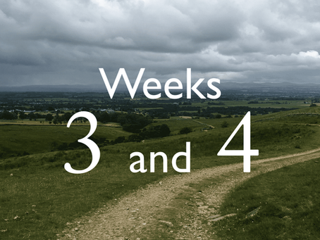 Virtual Camino - weeks three and four update