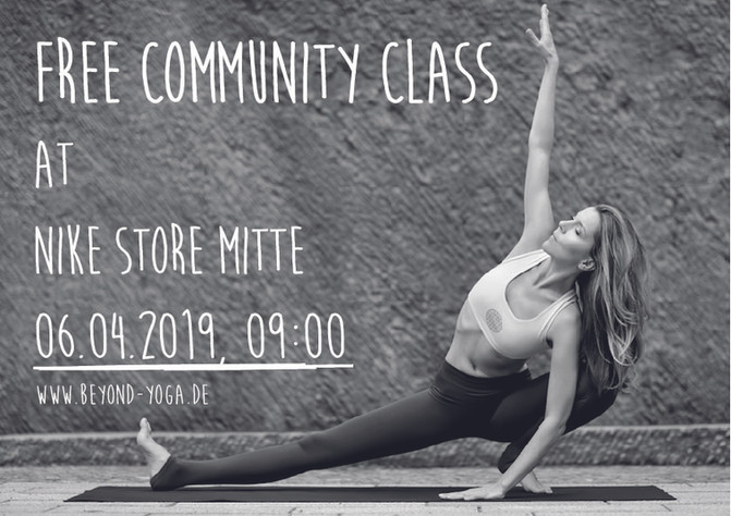 FREE COMMUNITY CLASS at NIKE Store Mitte!!