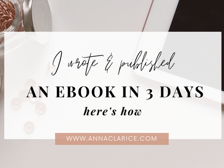 I Wrote and Published an E-Book in 3 Days, Here's How
