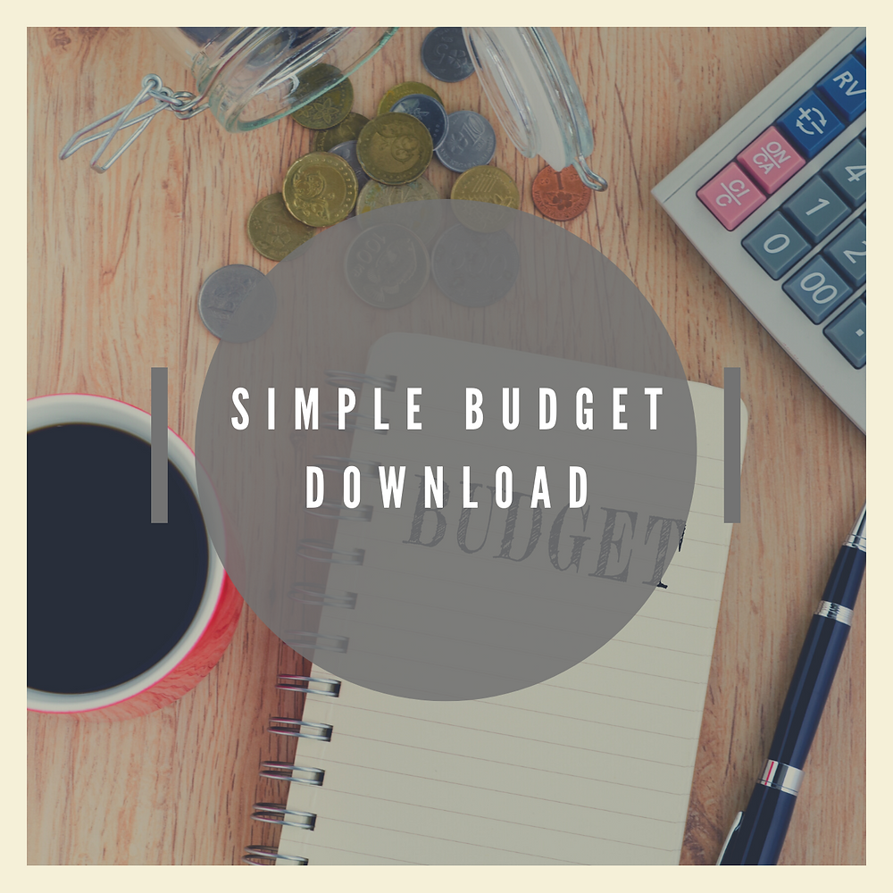 Simple budget template download