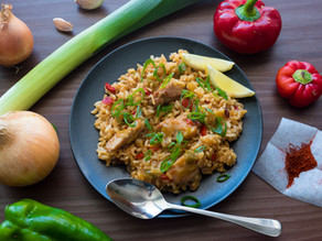 Chicken and Mixed Pepper Paella