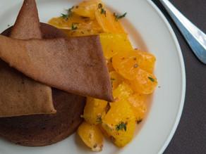 Marbled Chocolate and Orange Fondant